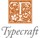 Typecraft logotyp text grey